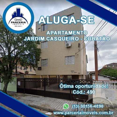 Apartamento, código 490 em Cubatão, bairro Jardim Casqueiro