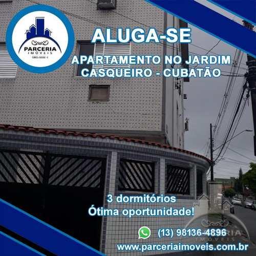 Apartamento, código 410 em Cubatão, bairro Jardim Casqueiro