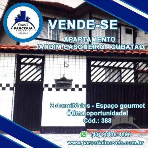 Apartamento, código 388 em Cubatão, bairro Jardim Casqueiro