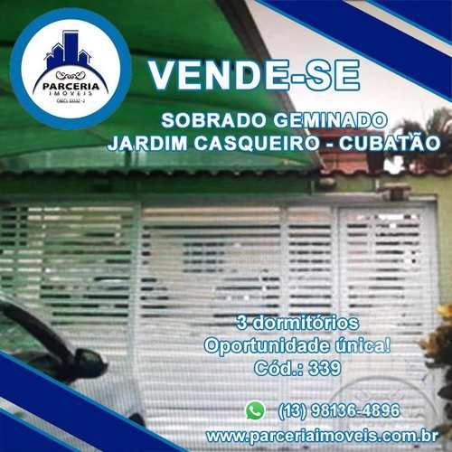 Casa, código 339 em Cubatão, bairro Jardim Casqueiro