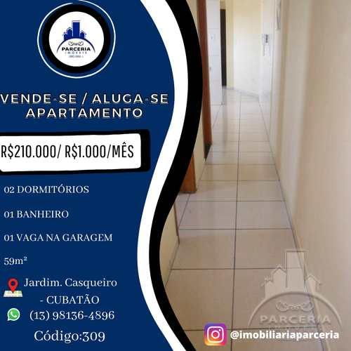 Apartamento, código 309 em Cubatão, bairro Jardim Casqueiro