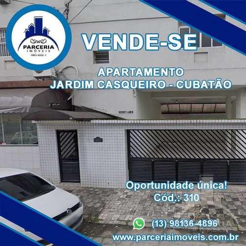 Apartamento, código 310 em Cubatão, bairro Jardim Casqueiro