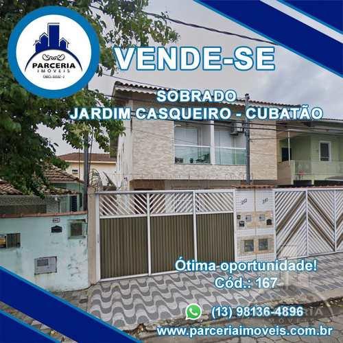Sobrado, código 167 em Cubatão, bairro Jardim Casqueiro
