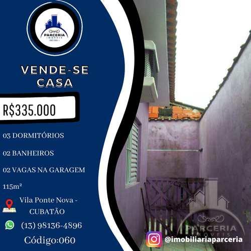 Casa, código 60 em Cubatão, bairro Vila Ponte Nova