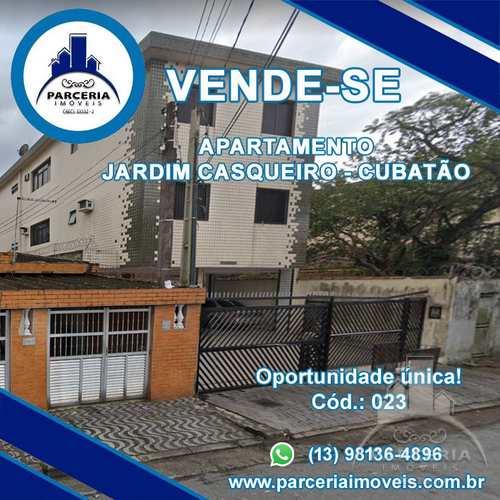 Apartamento, código 23 em Cubatão, bairro Jardim Casqueiro