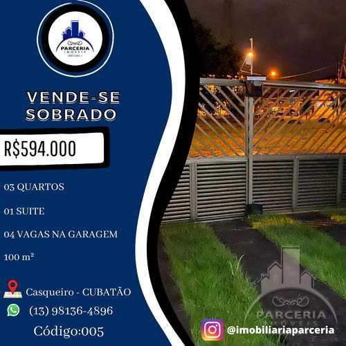 Sobrado, código 5 em Cubatão, bairro Jardim Casqueiro