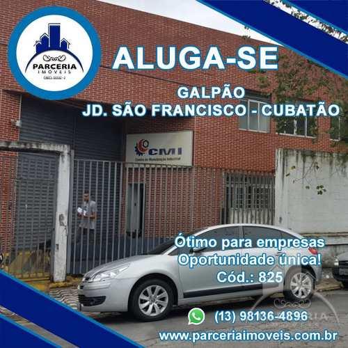 Galpão Logístico, código 825 em Cubatão, bairro Jardim São Francisco