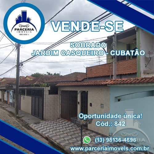 Sobrado, código 842 em Cubatão, bairro Jardim Casqueiro