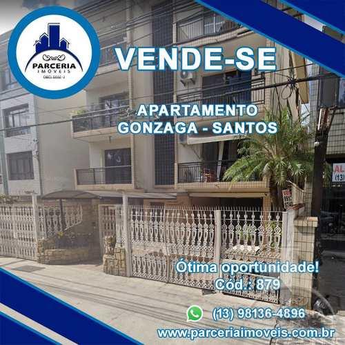 Apartamento, código 879 em Santos, bairro Gonzaga