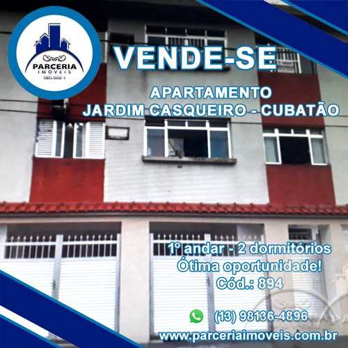 Apartamento, código 894 em Cubatão, bairro Jardim Casqueiro