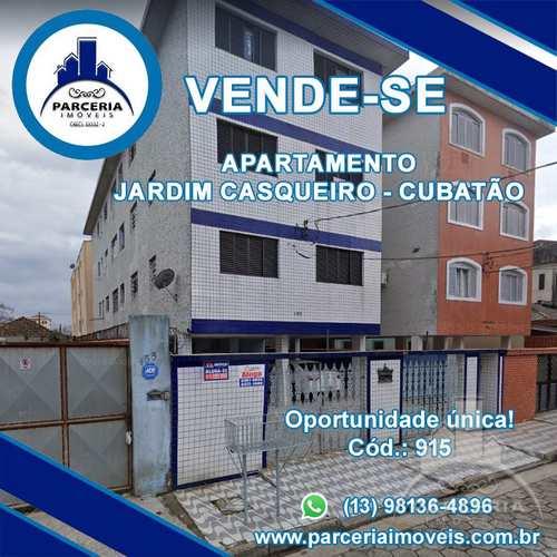 Apartamento, código 915 em Cubatão, bairro Jardim Casqueiro