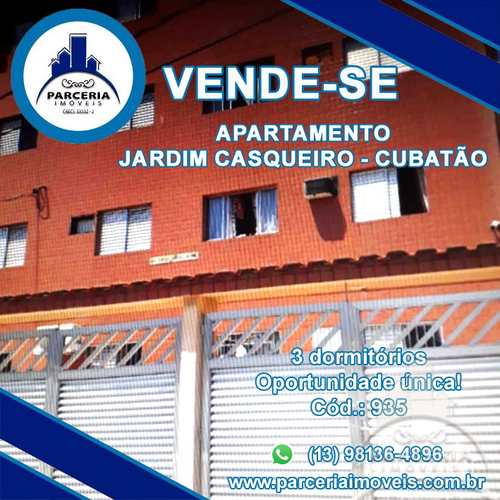 Apartamento, código 935 em Cubatão, bairro Jardim Casqueiro