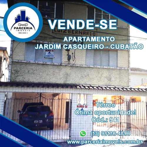 Apartamento, código 941 em Cubatão, bairro Jardim Casqueiro