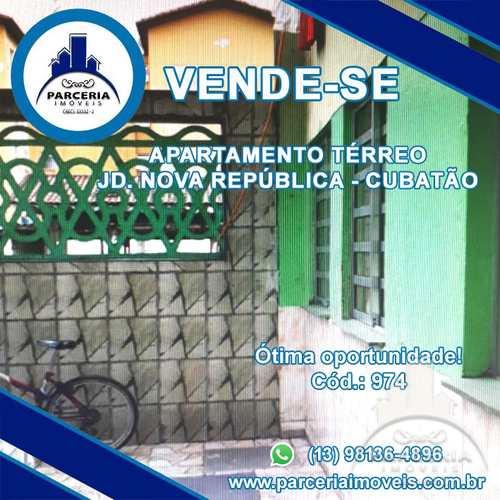 Apartamento, código 974 em Cubatão, bairro Jardim Nova República