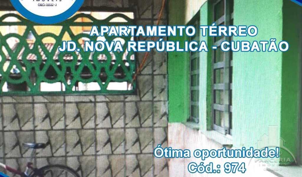 Apartamento em Cubatão, bairro Jardim Nova República