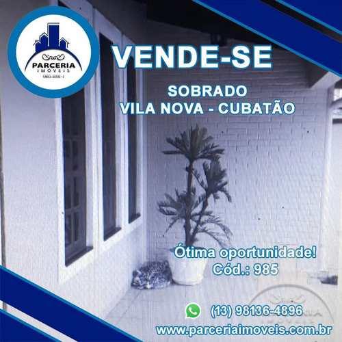 Sobrado, código 985 em Cubatão, bairro Vila Nova