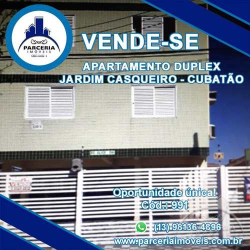 Apartamento, código 991 em Cubatão, bairro Jardim Casqueiro