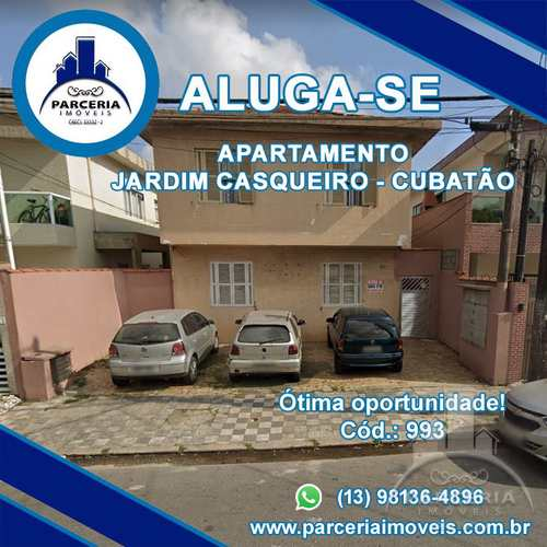 Apartamento, código 993 em Cubatão, bairro Jardim Casqueiro