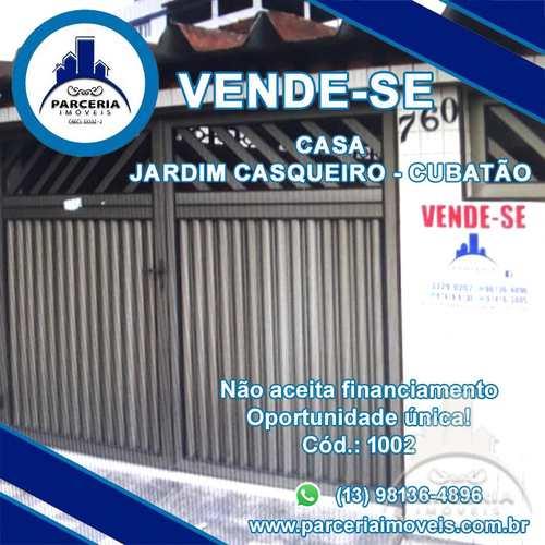 Casa, código 1002 em Cubatão, bairro Jardim Casqueiro