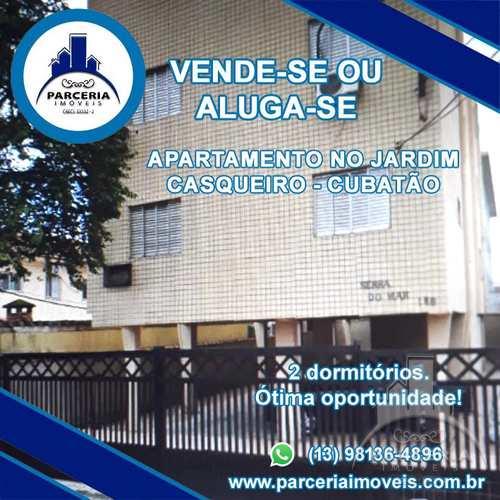 Apartamento, código 1008 em Cubatão, bairro Jardim Casqueiro