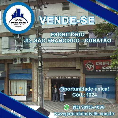 Sala Comercial, código 1024 em Cubatão, bairro Jardim São Francisco