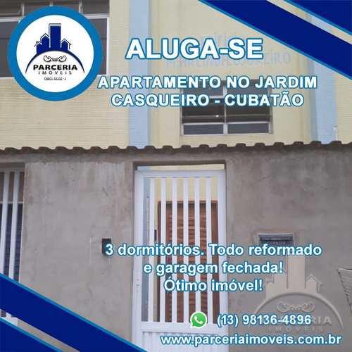 Apartamento, código 1042 em Cubatão, bairro Jardim Casqueiro