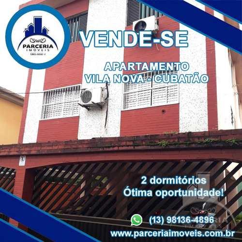 Apartamento, código 1050 em Cubatão, bairro Vila Nova