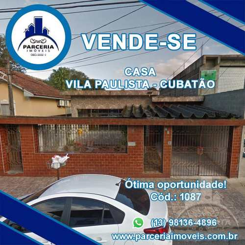Casa, código 1087 em Cubatão, bairro Vila Paulista