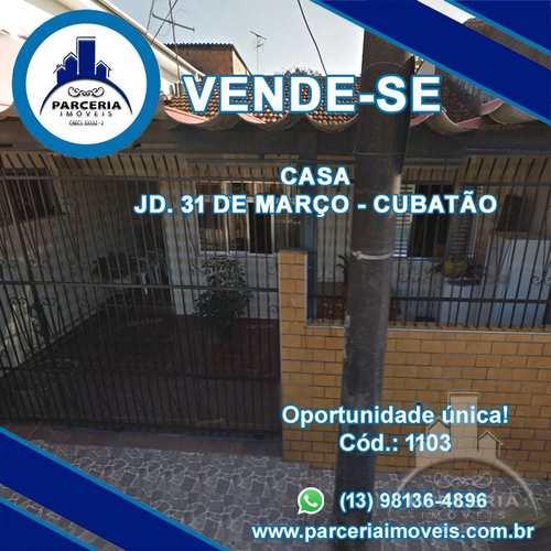 Casa, código 1103 em Cubatão, bairro Jardim Trinta E Um de Março