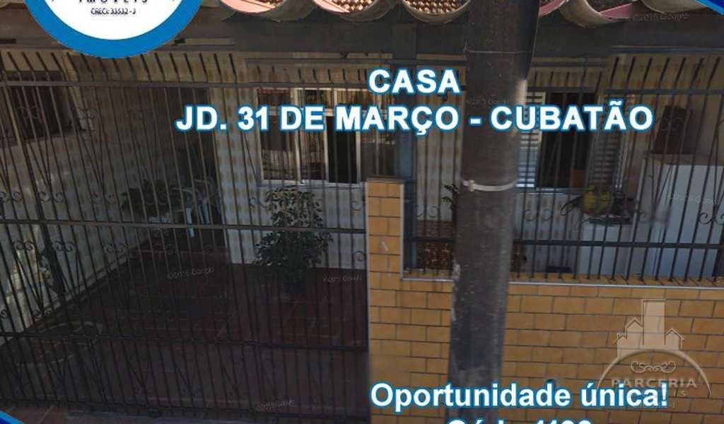 Casa em Cubatão, bairro Jardim Trinta E Um de Março