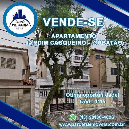 Apartamento, código 1115 em Cubatão, bairro Jardim Casqueiro