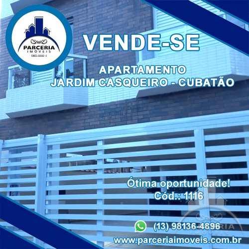 Apartamento, código 1116 em Cubatão, bairro Jardim Casqueiro