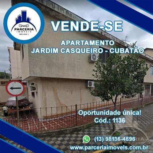Apartamento, código 1136 em Cubatão, bairro Jardim Casqueiro
