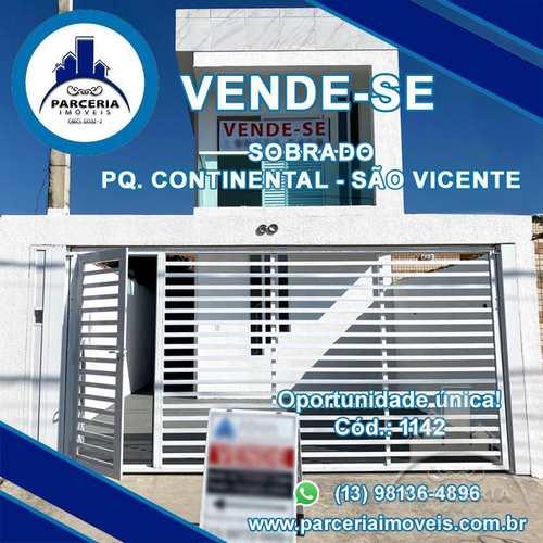 Sobrado, código 1141 em São Vicente, bairro Parque Continental