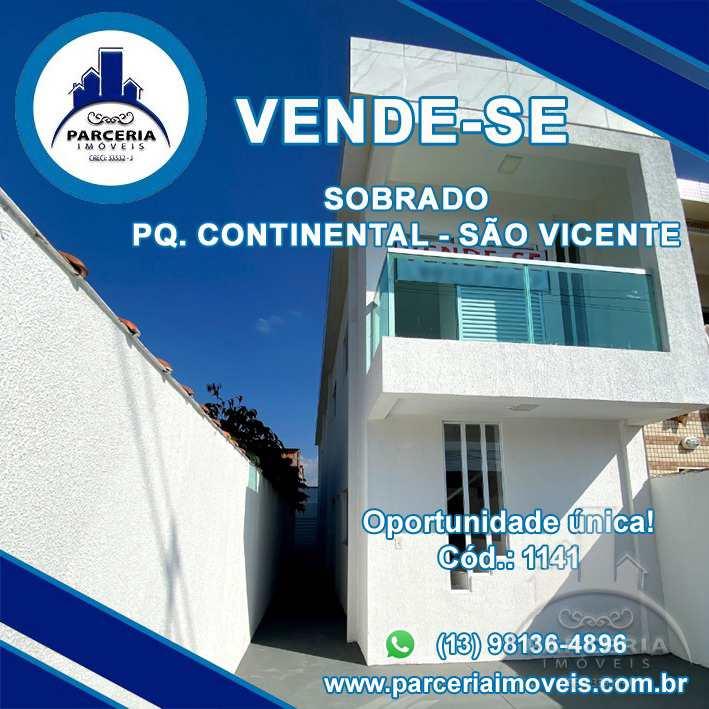 Sobrado em São Vicente, no bairro Parque Continental