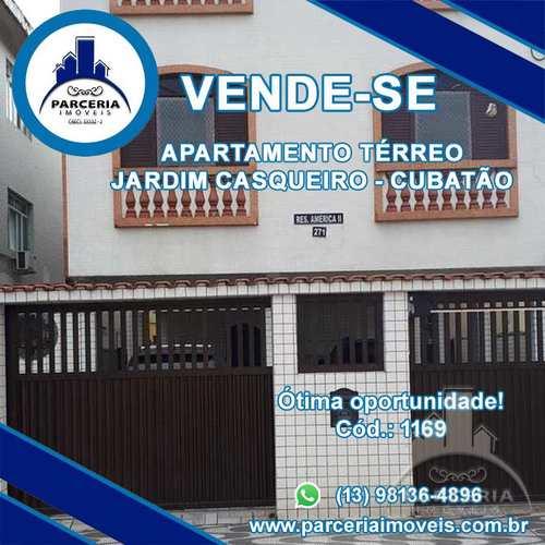 Apartamento, código 1169 em Cubatão, bairro Jardim Casqueiro