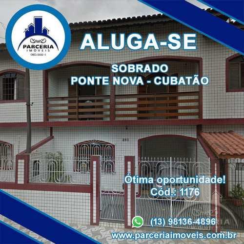 Sobrado, código 1176 em Cubatão, bairro Vila Ponte Nova