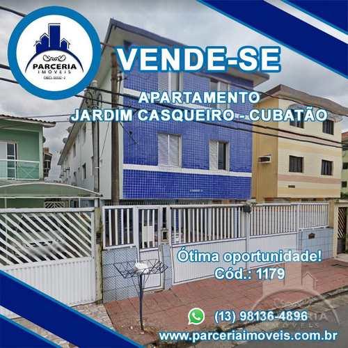 Apartamento, código 1179 em Cubatão, bairro Jardim Casqueiro