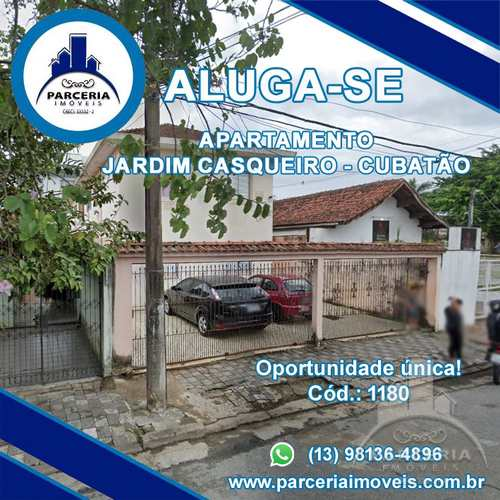 Apartamento, código 1180 em Cubatão, bairro Jardim Casqueiro