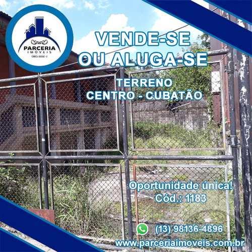 Terreno Comercial, código 1183 em Cubatão, bairro Centro