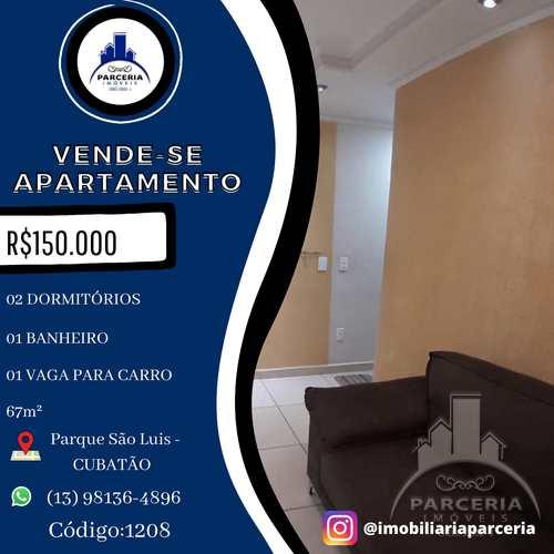 Apartamento, código 1208 em Cubatão, bairro Parque São Luis