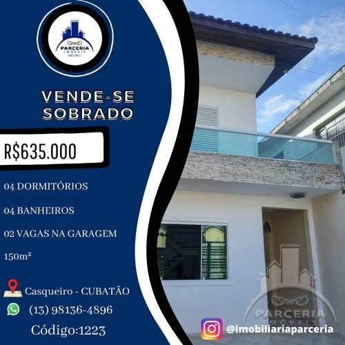 Sobrado, código 1223 em Cubatão, bairro Jardim Casqueiro