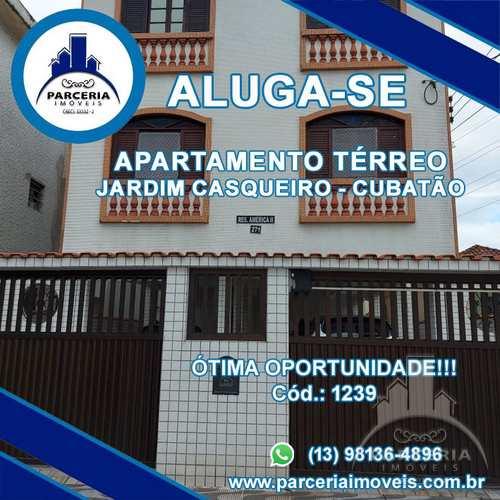 Apartamento, código 1239 em Cubatão, bairro Jardim Casqueiro