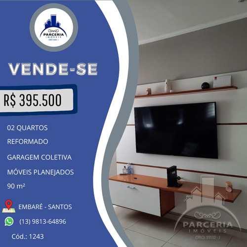 Apartamento, código 1243 em Santos, bairro Embaré