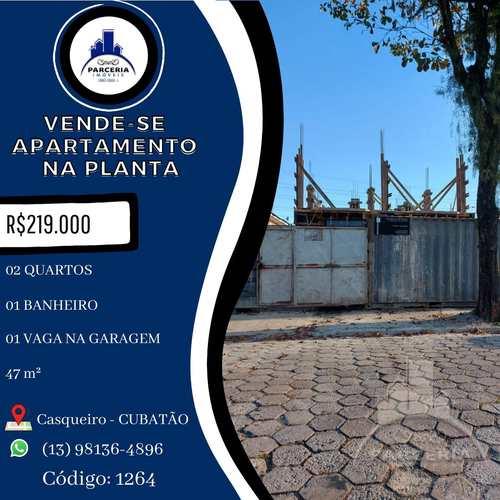 Apartamento, código 1264 em Cubatão, bairro Jardim Casqueiro