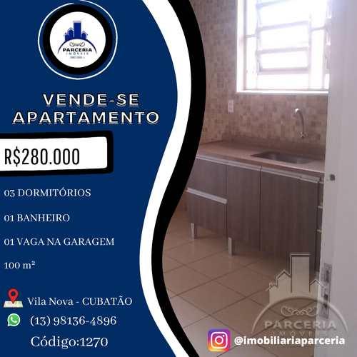 Apartamento, código 1270 em Cubatão, bairro Vila Nova