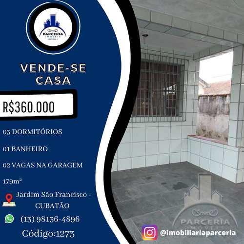 Casa, código 1273 em Cubatão, bairro Jardim São Francisco