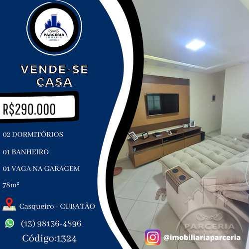 Casa, código 1324 em Cubatão, bairro Jardim Casqueiro
