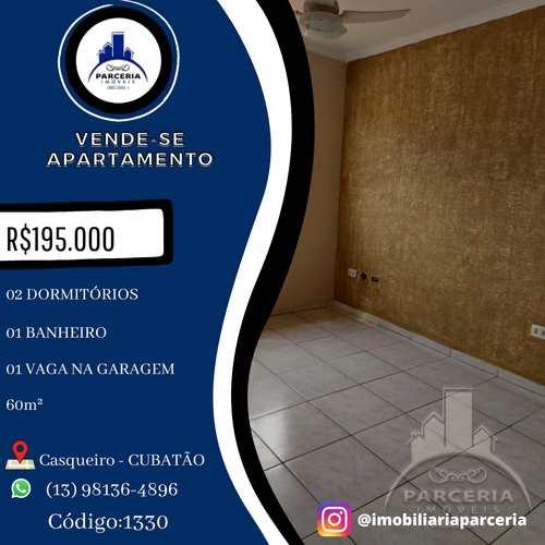 Apartamento, código 1330 em Cubatão, bairro Jardim Casqueiro