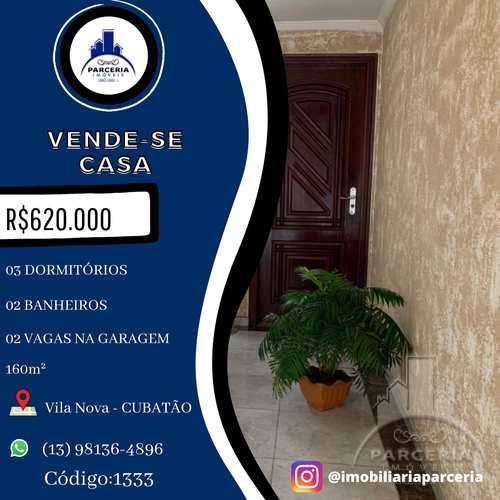 Casa, código 1333 em Cubatão, bairro Vila Nova